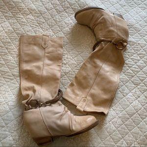 Vero Cuoio Beige Wegde Leather High Boot 👢